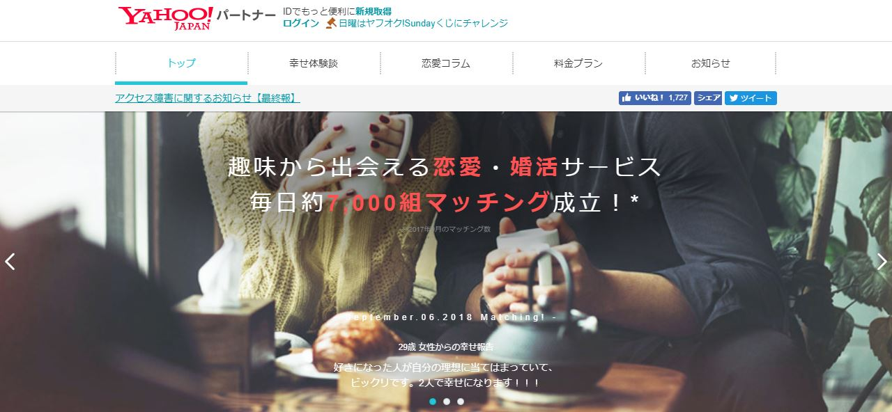 Yahoo!パートナーのFV